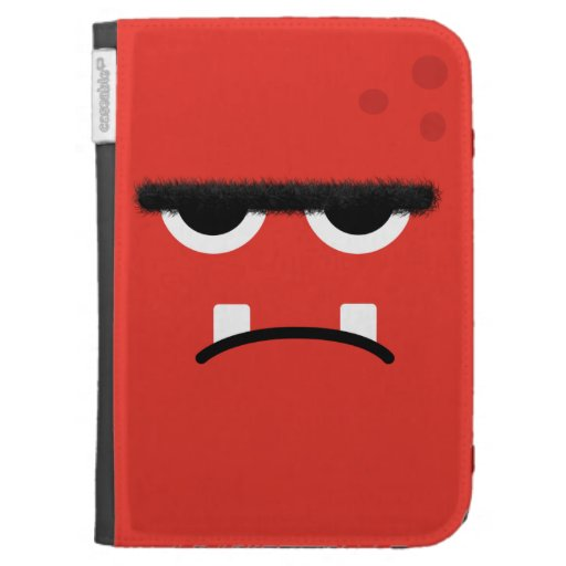 Funny Red Monster Face Kindle 3G Cover