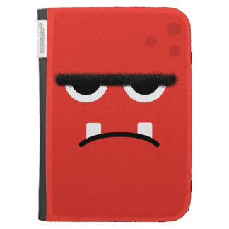 Funny Red Monster Face Kindle Cover