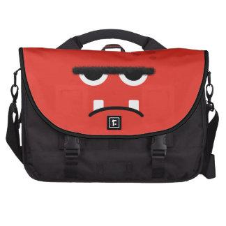 Funny Red Monster Face Commuter Bag