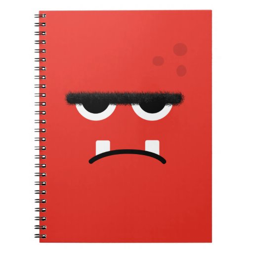 Funny Red Monster Face Journals
