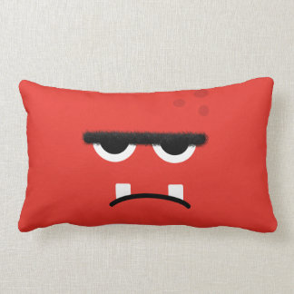 Funny Red Monster Face Pillow