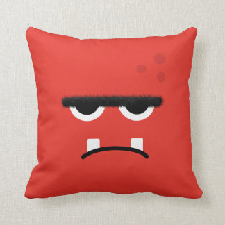 Funny Red Monster Face Pillows
