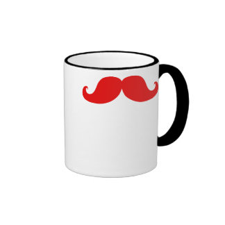 FUNNY RED MUSTACHE MUGS