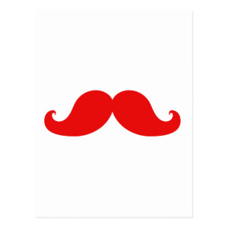FUNNY RED MUSTACHE POST CARDS