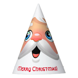 Funny Red Nosed Santa Claus Party Hat