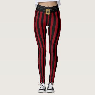 Funny Red Pirate Stripe Leggings