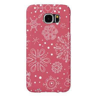 Funny Red Snowflakes Pattern Samsung Galaxy S6 Case