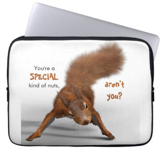 Funny Red Squirrel Photo | Special Kind of Nuts Laptop Sleeve