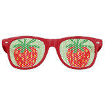 Funny red strawberry party shades sunglasses