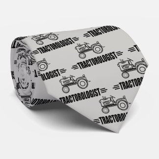 Funny Red Tractor Neck Tie