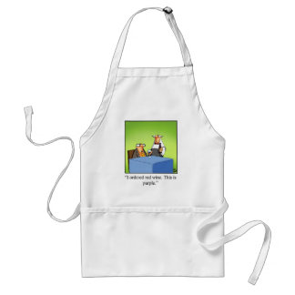 Funny Red Wine Cartoon Gift! Adult Apron
