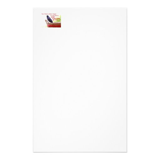 Funny Red-Winged Blackbird Stationery