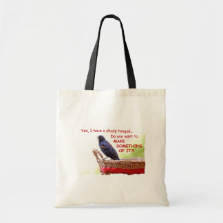 Funny Red-Winged Blackbird Tote Bag