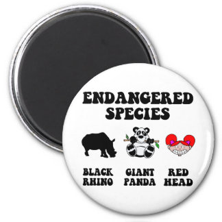 Funny redhead 2 inch round magnet