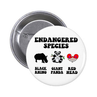 Funny redhead 2 inch round button