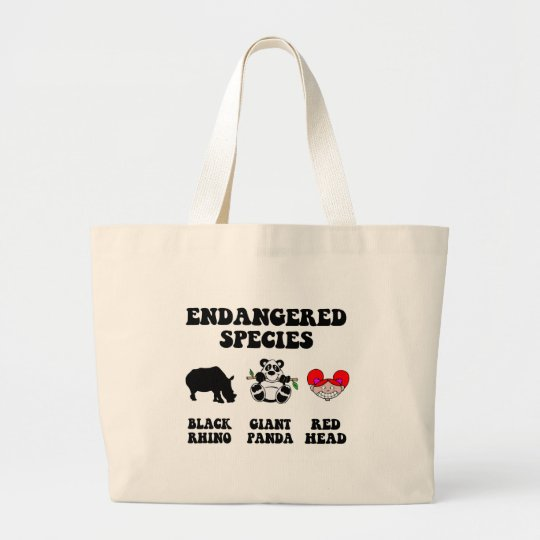 Funny redhead large tote bag