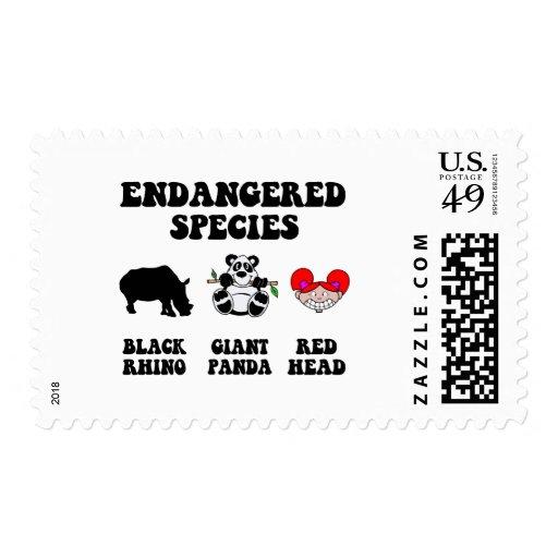 Funny redhead postage
