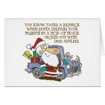 Funny Rednceck Santa Claus Christmas Card