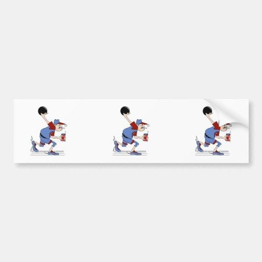 funny redneck bowler bowling humor design bumper sticker