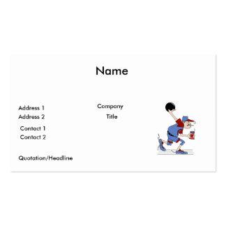 funny redneck bowler bowling humor design business card