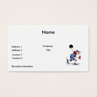 funny redneck bowler bowling humor design business card