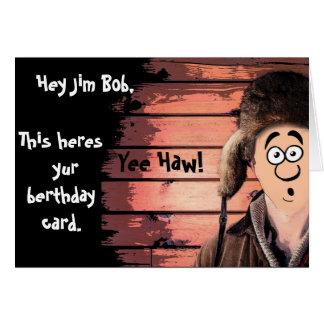 Funny Redneck Cartoon birthday Card