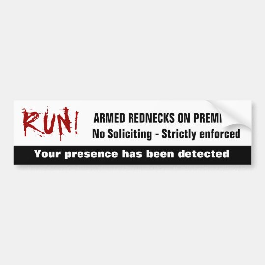 Funny redneck no soliciting sign bumper sticker zazzle - Funny soliciting signs ...