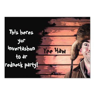 Funny Redneck Party Theme Invitation