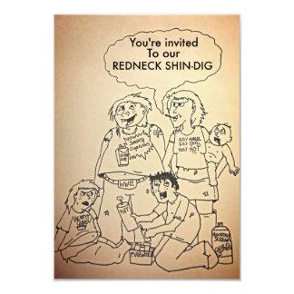 Funny redneck shindig/party invitations