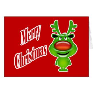 Funny reindeer greeting cards