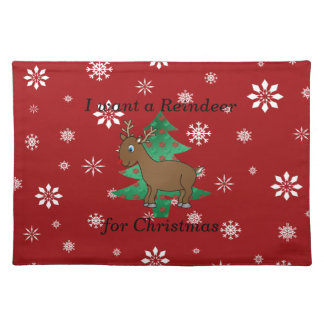 Funny reindeer christmas gifts placemat