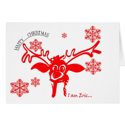 Funny reindeer eric greeting card zazzle for Funny reindeer christmas cards