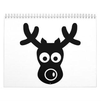 Funny reindeer face calendar