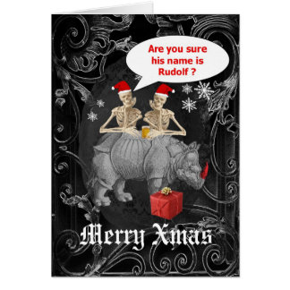 Funny  reindeer gothic  Christmas Card