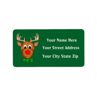 Funny Reindeer Holiday Return Address Labels