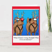 Funny Reindeer Humor Christmas Greeting Card