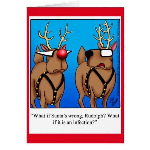 Funny reindeer humor christmas greeting card zazzle for Funny reindeer christmas cards