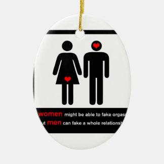 Funny relationships ceramic ornament