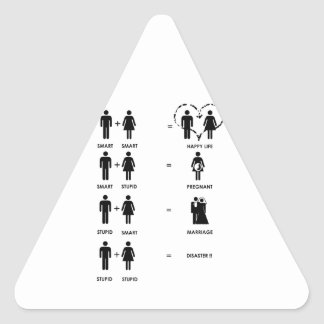 Funny Relationships Triangle Sticker