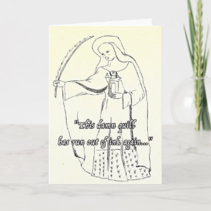 Funny Religious Greetings Card Quill Birthday Fun