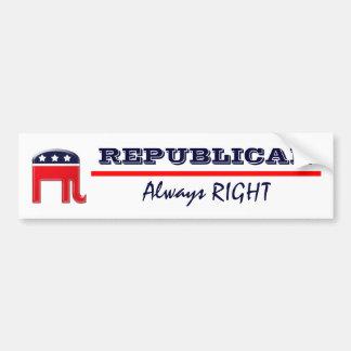 """Funny Republican """"always right"""" humor Bumper Sticker"""