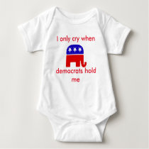 Funny Republican Baby Onsie, Crying baby Baby Bodysuit