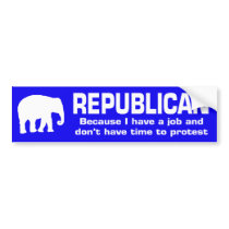 Funny Republican Bumper Sticker
