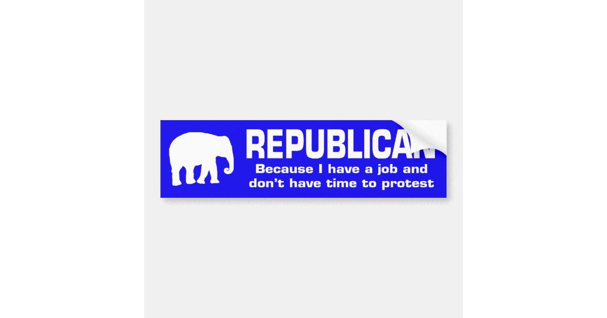 Funny republican bumper sticker zazzle com
