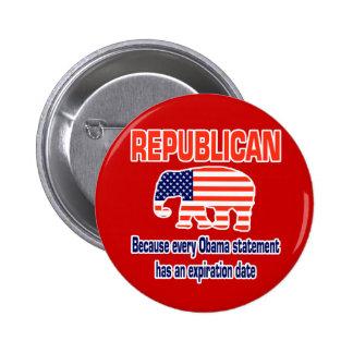 Funny Republican Obama Pin