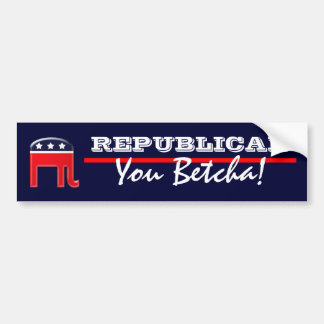 Funny Republican party patriotic saying Bumper Sticker