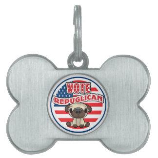 Funny Republican Party Pet Dog Tag