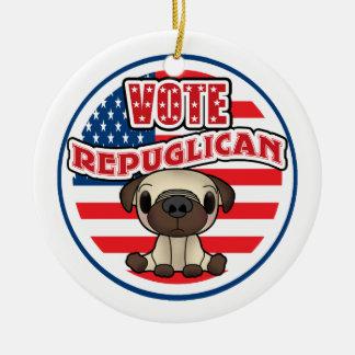 Funny Republican Presidential Election Ceramic Ornament