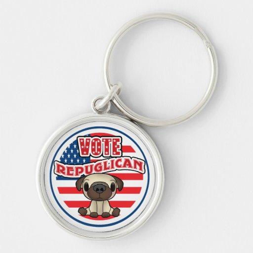 Funny Republican Presidential Election Keychain