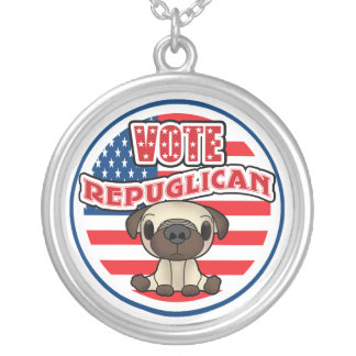 Funny Republican Presidential Election Round Pendant Necklace